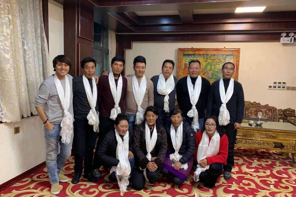 Songtsan Travel team in Lhasa, Tibet