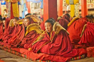 We meet these young Tibetan monks as part of our eco tourism tour around Lhasa, Tibet