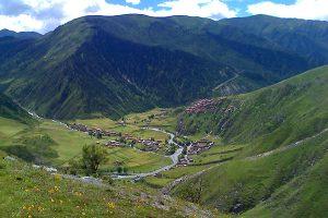 Eco tourism destination Dorphu valley and Dzongsar village