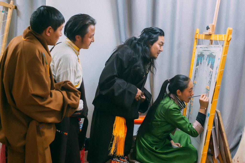 Traditional Tibetan Handicraft school in Lhasa