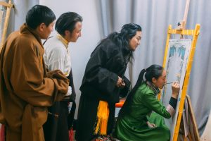 Traditional Tibetan Handicraft school in Lhasa