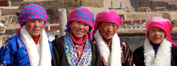 Rosie cheeks on these smiling Amdo Girls, East-Tibet