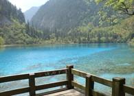 Beautiful clear lake in Amdo, Eastern Tibet