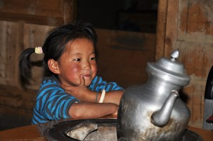 Children in homestay at Gyalgen