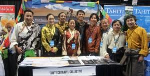 The Tibetan trade fair stand