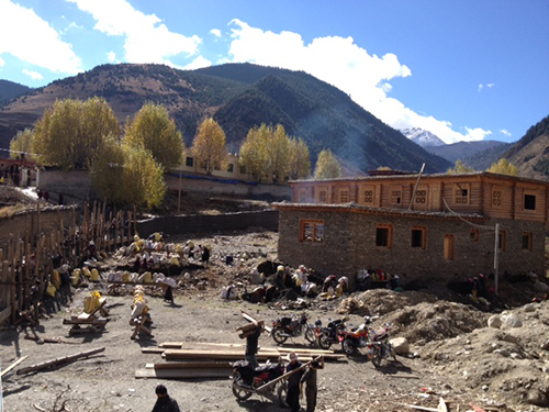 Guesthouse on building in Mesho, Dzongsar Valley, Kham, TIbet