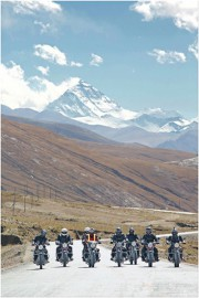 Riding across the Tibetan Plateau