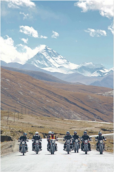 Riders at Everest Base Camp Tibet